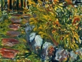0711 - Lilies in Mary Belle's Yard. 26 x 32. 2007